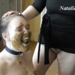 Eat my tasty shit, my happy toilet with Mistress Natalia Kapretti Lesbian Scat video [FullHD / 2020]