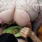 Double dish of shit from two Mistresses – BBW Femdom Scat Slave Sex [HD / 2020]