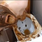 Dirty toilet (part 1) with ScatLina Pooping Girls [FullHD / 2020]