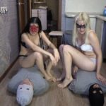 2 slaves VS 2 mistresses. Sport competitions! Domination Scat [FullHD / 2020]