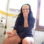 Funny girl POV Pooping in Toilet Peteuse.