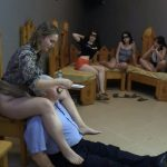 The girls fed him a spoon with MilanaSmelly Human Toilet [HD]