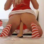 Xmas Cock Messy Punishment – Xmas Red Panties Gift [FullHD]